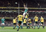 Devin Toner wins a line-out against Australia