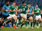 Late inclusion Tommy O'Donnell breaks away from the Italian defence to run in his first RBS 6 Nations try Credit: ©INPHO/Ryan Byrne