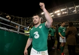 Cian Healy gives the thumbs-up as he comes off after his first appearance for Ireland since the 2014 Championship decider against France Credit: ©INPHO/Dan Sheridan