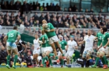 Corkman Simon Zebo excelled under the high ball to give Ireland a solid platform of possession Credit: ©INPHO/Colm O'Neill