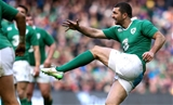 Ireland full-back Rob Kearney gets his kick away Credit: ©INPHO/James Crombie