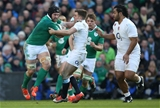 Ireland flanker Sean O'Brien hands off George Ford just before he was forced off due to concussion Credit: ©INPHO/Billy Stickland