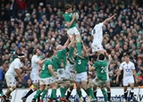 Second half replacement Iain Henderson wins a lineout for Ireland Credit: ©INPHO/Billy Stickland