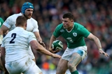 Robbie Henshaw has his movements tracked by England forwards Dylan Hartley and James Haskell Credit: ©INPHO/Dan Sheridan