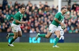Ireland full-back Rob Kearney is supported by Tommy Bowe as he leads a counter attack Credit: ©INPHO/Dan Sheridan