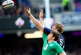 Jonny Gray and Iain Henderson 21/3/2015 compete for the ball