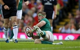 Jamie Heaslip's eighth-minute effort was his first try for Ireland since February 2014's win over Scotland Credit: ©INPHO/Billy Stickland