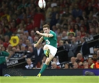 Young number 10 Paddy Jackson boots a penalty towards the uprights Credit: ©INPHO/Billy Stickland