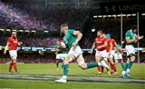 Jamie Heaslip coasts in from the left wing to score Ireland's opening try in Cardiff Credit: ©INPHO/Dan Sheridan