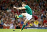 Paddy Jackson, who started at out-half, fires the ball towards the posts Credit: ©INPHO/Dan Sheridan