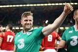 Captain Jamie Heaslip gives the thumbs-up after Ireland's opening win of the season Credit: ©INPHO/Dan Sheridan