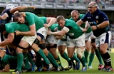Hooker Sean Cronin breaks free from a maul drive to score Ireland's second try Credit: ©INPHO/James Crombie