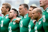 Chris Henry, Isaac Boss, Nathan White, Eoin Reddan and Richardt Strauss are pictured during the anthems Credit: ©INPHO/James Crombie