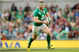 Gordon D'Arcy, with his head bandaged, is pictured in possession for Ireland Credit: ©INPHO/James Crombie