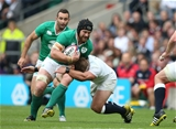 Ireland flanker Sean O'Brien takes the ball into contact during the first half Credit: ©INPHO/Billy Stickland