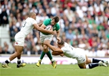 Ireland centre Jared Payne is closed down by England's Anthony Watson and Sam Burgess Credit: ©INPHO/Dan Sheridan