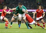Iain Henderson takes on the Canadian defence just a few metres from the try-line Credit: ©INPHO/Dan Sheridan
