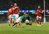 Leinster winger Dave Kearney dots down at the Millennium Stadium Credit: ©INPHO/Billy Stickland