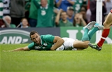 It is try time for Dave Kearney as the winger secures the bonus point for Ireland Credit: ©INPHO/Dan Sheridan