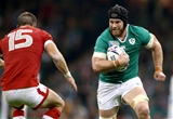 Tullow man Sean O'Brien runs towards Canadian full-back Matt Evans Credit: ©INPHO/Dan Sheridan