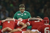 Jamie Heaslip prepares for a scrum from his number 8 position Credit: ©INPHO/Billy Stickland
