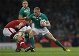 Winger Keith Earls is pictured in possession during the closing stages of the game Credit: ©INPHO/Billy Stickland
