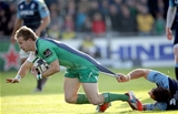 Ireland international Kieran Marmion got away from Cardiff's Josh Turnbull to touch down for the hosts Credit: ©INPHO/Morgan Treacy
