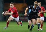 Young centre Rory Scannell on the attack for Anthony Foley's men Credit: ©INPHO/Ryan Byrne