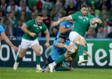 Number 8 Jamie Heaslip leads an attack for Ireland during the closing stages of the game Credit: ©INPHO/Dan Sheridan
