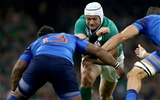 France's Mathieu Bastareaud and Yoann Maestri tackle Rory Best, who had another excellent game in the Irish front row Credit: ©INPHO/James Crombie