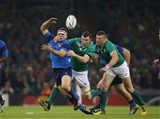 Ireland's workhorse flanker Peter O'Mahony gets a tackle in on French hooker Guilhem Guirado Credit: ©INPHO/Billy Stickland