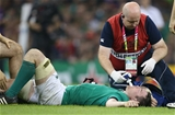 Peter O'Mahony unfortunately suffered a knee ligament injury in the 54th minute which ended his Rugby World Cup Credit: ©INPHO/Billy Stickland