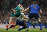 Second row Devin Toner takes the ball on for Ireland in the Pool D decider Credit: ©INPHO/Billy Stickland