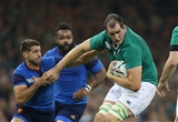 Giant lock Devin Toner is pictured in possession during Ireland's fourth and final Pool D game Credit: ©INPHO/Billy Stickland