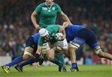 Experienced hooker Rory Best makes a carry in the Cardiff cauldron Credit: ©INPHO/Billy Stickland