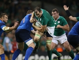 Second row Devin Toner makes the hard yards for Joe Schmidt's men Credit: ©INPHO/Billy Stickland