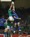 Chris Henry and Bernard le Roux, two of the replacements used, reach for a high ball Credit: ©INPHO/Billy Stickland