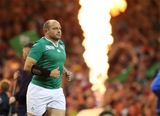 Rory Best, Ireland's most-capped hooker, makes his way out onto the pitch Credit: ©INPHO/Billy Stickland