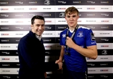 Garry Ringrose receives his GUINNESS PRO12 man-of-the-match medal from Diageo's Will Keating Credit: ©INPHO/Ryan Byrne