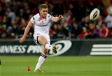 Ireland international Paddy Jackson kicks a first half penalty for the Ulstermen Credit: ©INPHO/Ryan Byrne