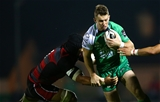 Connacht's flying winger Matt Healy tries to get away from Edinburgh number 8 Nasi Manu Credit: ©INPHO/James Crombie