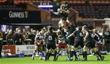 International second row Dave Foley gets up to win a lineout for Munster Credit: ©INPHO/Russell Cheyne