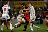 Ulster openside Chris Henry gets to grips with Billy Vunipola, who was one of two Saracens players to see yellow in Belfast Credit: ©INPHO/Morgan Treacy