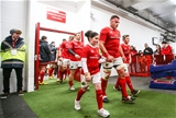 CJ Stander, who started at blindside flanker, leads out the Munster team at Thomond Park Credit: ©INPHO/James Crombie