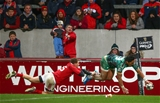 Bundee Aki acrobatically grounded the ball to move Connacht into an 18-12 lead at Thomond Park Credit: ©INPHO/James Crombie