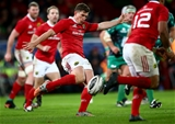 Munster out-half Ian Keatley launches a kick downfield during the interpro clash with table-topping Connacht Credit: ©INPHO/James Crombie