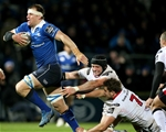 Leinster flanker Rhys Ruddock breaks away from Ulster's Dan Tuohy and Sean Reidy as the hosts begin the second half with a bang Credit: ©INPHO/Dan Sheridan