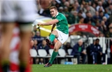 Talented Ulster number 10 Paddy Jackson fires a penalty towards the posts in Cape Town Credit: ©INPHO/Billy Stickland