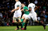 Paddy Jackson coolly slots a drop goal to bring Ireland level - 13-13 - just before half-time Credit: ©INPHO/Billy Stickland