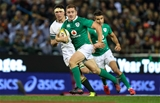Some lovely footwork saw Paddy Jackson open up a hole in the South African defence during the second half Credit: ©INPHO/Billy Stickland